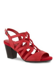 Easy Street Red Burnish Admire Sandal