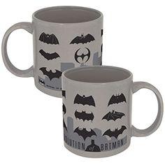 DC Comics Batman Logo Evolution Mug 11 ounces 07547 from ICUP @ niftywarehouse.com #NiftyWarehouse #Batman #DC #Comics #ComicBooks