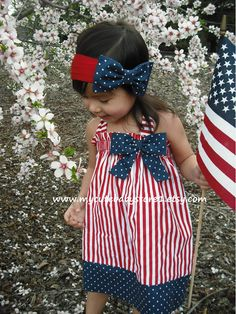 Beautiful Patriotic 4th of July Halter Dress. $24.00, via Etsy.