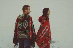 Poncho con estampado azteca para hombre y para mujer. ¡Absolutamente perfecto!