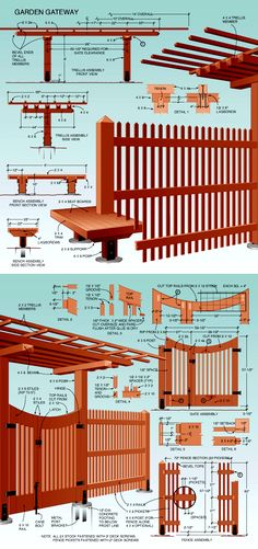Garden Gateway: Build a Trellis  An elegant redwood structure that's really four projects in one.