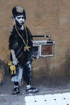 BBoy By Banksy Canvas Print #2036