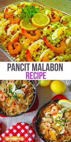 This Pancit Malabon recipe, is a Rice noodle based dish that originated in Malabon, is a popular dish to be served in big celebrations, fiestas and even in impromptu celebrations in schools and offices. Filipino Dishes, Filipino Recipes, Asian Recipes, Filipino Desserts, Ethnic Recipes, Noodle Recipes, Egg Recipes, Snack Recipes, Al Dente