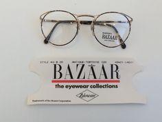 cab526359c4 Vintage Eyeglass Frames - Round Eyeglasses - Antique Tortoise Clear Glasses  - Clear Lens Demo Lenses