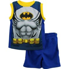 f0d7eead5 Batman Boys Tank Top & Shorts Set. Free shipping! Batman Outfits, Batman  Costumes