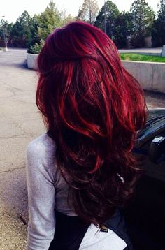 Deep Cherry Red Hair 137917 Dark Red Hair Color Ideas – Best Hair Color Ideas & Trends In 2017 - Hairstyle ideas Love Hair, Gorgeous Hair, Pretty Hair, Hairstyles Haircuts, Trendy Hairstyles, Hair Color 2016, Hair Hacks, New Hair, Hair Inspiration
