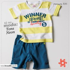 Tons neon continuam em alta na moda infantil Primavera 2013