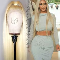 Celebrity inspired human Blonde Lace front wig with transparent lace Frontal Hairstyles, Permed Hairstyles, Straight Hairstyles, Permanent Hair Extensions, Extensions For Thin Hair, Blonde Lace Front Wigs, Straight Lace Front Wigs, Cheap Human Hair, Human Hair Wigs