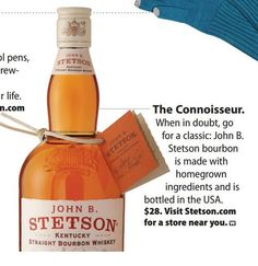 "USA Weekend featured our bourbon as the ideal gift for ""the connoisseur"""
