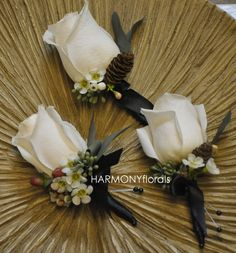 Boutonnieres for Jason and his groomsmen