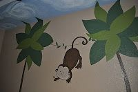 Custom art, furniture and murals for your stylish and colorful home needs. Jungle Theme Nursery, Nursery Themes, Custom Art, House Colors, Wall Murals, Snoopy, Dexter, Monkey, Painting