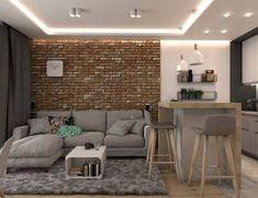 A flat in a block - OroConcept - interior design work . Condo Design, Küchen Design, Apartment Design, Small Apartment Interior, Style At Home, Home Staging, Small Condo, Interior Design Work, Decoration