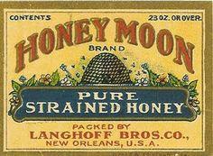 Vintage Bee & Beehives - Bee Decor — The Beehive Shoppe Vintage Bee, Vintage Labels, Vintage Ephemera, Vintage Posters, Vintage Ideas, George Nelson, Honey Brand, Honey Label, Bee Art