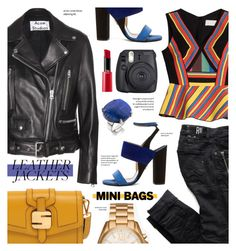 """Leather jacket - street style"" by cly88 ❤ liked on Polyvore featuring Acne Studios, Peter Pilotto, Paul Andrew, Lazuli, Fuji, Serapian, Michael Kors and Giorgio Armani"