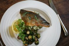 Sea bass is delicious in its simplest form – seasoned and pan-fried in butter and thyme. Discover the full recipe and shop the ingredients you need at Fine Food Specialist! Micro Herbs, Gluten Free Recipes, Healthy Recipes, Gourmet Cooking, Sea Bass, Food For Thought, Food Dishes, Meal Planning, Slow Cooker