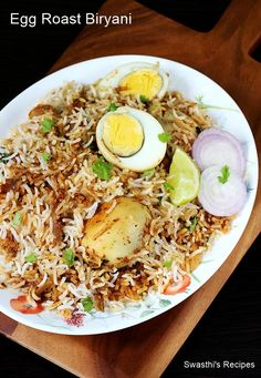 Egg roast biryani recipe made in kerala style with video & step by step photos. One of the most flavorful, delicious and easy to make dish
