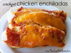 Five chicken crockpot recipes - crockpot chicken enchiladas