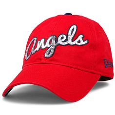 Los Angeles Angels of Anaheim Youth Junior Glitzmark 9FORTY Adjustable Cap by New Era - MLB.com Shop