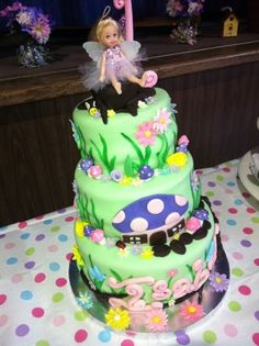 Fairy Garden Cake By tlccar on CakeCentral.com