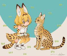 kemono friends, Serval
