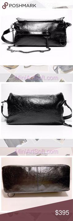 0e7ba1f3d03a Ann Demeulemeester Crinkled Leather Shoulder Bag Ann Demeulemeester rare  exclusive to the maison shoulder bag.