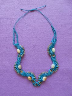 cebccf80cebbceb51 (Small) Turquoise Necklace, Beaded Necklace, Macrame Tutorial, Jewelry, Jewerly, Beads, Beaded Collar, Jewlery, Pearl Necklace
