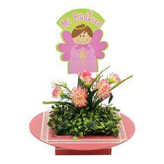 Proyectos |Adorno centro de mesa floral con ángel rosa
