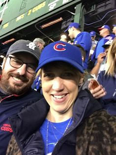 Watching two great teams long overdue.  What could be better?  A Cubs victory!  First World Series win at Wrigley Field since the year before I was born.  What a moment.  So happy for our son-in-law Adam Wogan, a scout for the Cubs.  That's my daughter Amy by his side, the scout's best pick. Son In Law, To My Daughter, First World Series, American Story, Wrigley Field, 5 Month Olds, Great Team, Today Show, Cubs