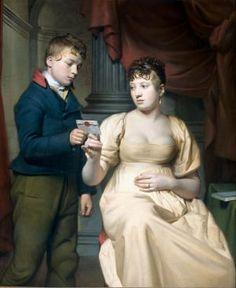 Portret van een paar als Oud-Testamentische figuren, genaamd 'Het Joodse bruidje' - Geheugen van Nederland