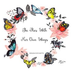 She flies with her OWN wings Butterfly Poems, Butterfly Pictures, Butterfly Art, Flower Art, Butterfly Kisses, Butterfly Colors, Cute Galaxy Wallpaper, Butterfly Wallpaper, Images Wallpaper