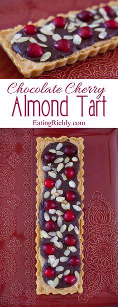 Eating richly even when you're broke   No Bake Chocolate Cherry Almond Tart Recipe