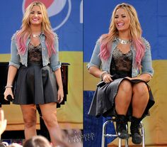 Demi Lovato in Topshop | 'Good Morning America' Summer Concert Series