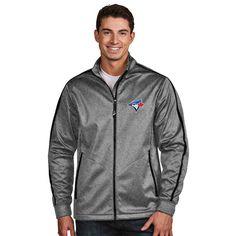 Toronto Blue Jays Antigua Golf Full-Zip Jacket - Charcoal -