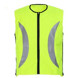 Riding reflective vest safety night reflective jacket Fluorescent yellow and orange M-XL customize logo printing V120023