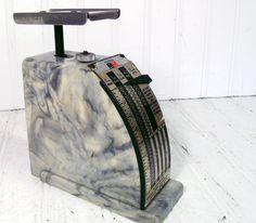 vintage office machines | Vintage Marbled Postal Scale - Hanson Model 1546 Office Equipment ...