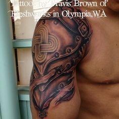 gladiator shoulder armor tattoo - Google Search