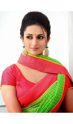 Georgette Green Color Divyanka Tripathi Stylish Sarees