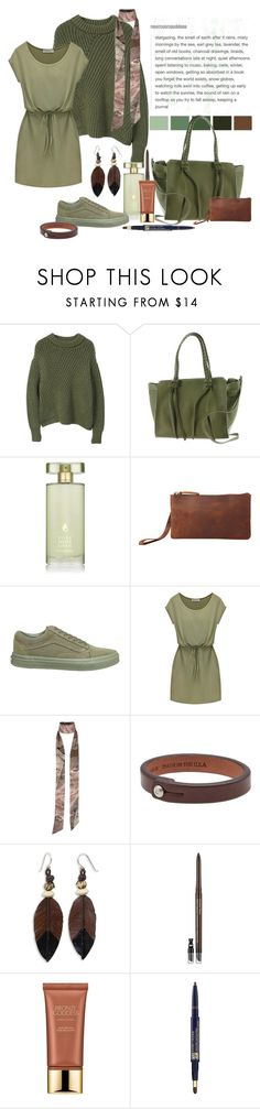 """Wonderwall"" by heather-peace ❤ liked on Polyvore featuring MANGO, Urban Expressions, Estée Lauder, Vagabond Traveler, Vans, River Island, Tanner Goods and NOVICA"
