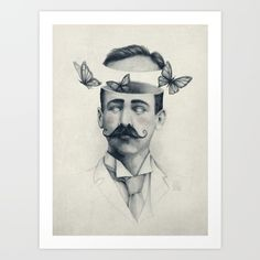 pencil, drawing, illustration, art, retro, vintage, old, abstract, butterfly, gentleman, hipster,