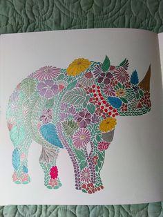 Metallic Gel Pens KM Millie Marotta Rhino Animal Kingdom AnimalColoring BooksAdult ColoringColouringGel