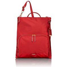 Women's Tumi 'Voyageur - Jackie' Convertible Crossbody Bag (760 BRL) via Polyvore featuring bags, crimson, cross body, red crossbody bag, tumi, lightweight crossbody bag e lightweight travel backpack