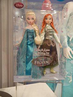 frozen ice skating dolls