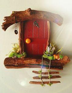 Fairy Door, Tooth Fairy Door Custom Made by Sedona Fairy Doors Source by etsy Wood Crafts, Diy And Crafts, Tooth Fairy Doors, Fairy Tree, Fairy Garden Houses, Fairies Garden, Fairy Crafts, Flower Fairies, Miniature Fairy Gardens