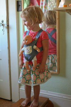 The Oliver + S bear carrier from Little Things to Sew @Lois Howe