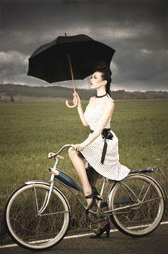 The most beautiful umbrella under the darkened sky