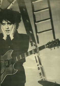 My cousin Clive looked and dressed just like The Cure's Robert Smith when we were younger - he'd take longer to get ready to go out than me!