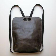 Lily and Lola Pia Backpack in distressed olive leather