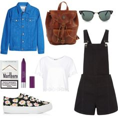 A fashion look from March 2014 featuring t shirts, boyfriend jean jacket and short rompers. Browse and shop related looks. Dungarees, Polyvore, Image, Fashion, Moda, Fashion Styles, Bib Overalls, Fasion, Overalls