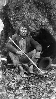Puget Sound man with pipe, ca. 1900