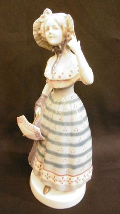 Antique Goebel porcelain figurine of a victorian lady woman